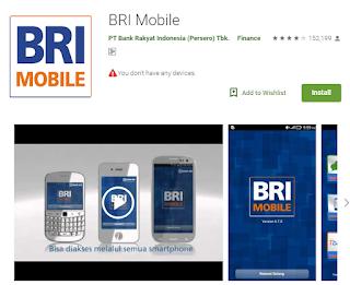 daftar sms banking bri dan bri mobile