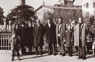 Señoras Picatoste, Travesset y Cherta, Pedro Cherta, Travesset, Gomila, Boada y Josep Paredes en 1973