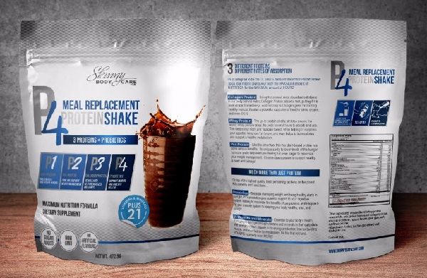NEW P4 Protein Drink tastes delicious and is a naturally healthy meal replacement drink by Skinny Body Care. Use it with Skinny Fiber for best weight loss results.