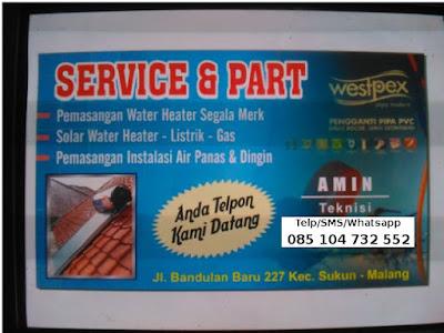 Jasa Pemasangan dan Service Water Heater Gas, Listrik WH Tenaga Matahari Murah Malang