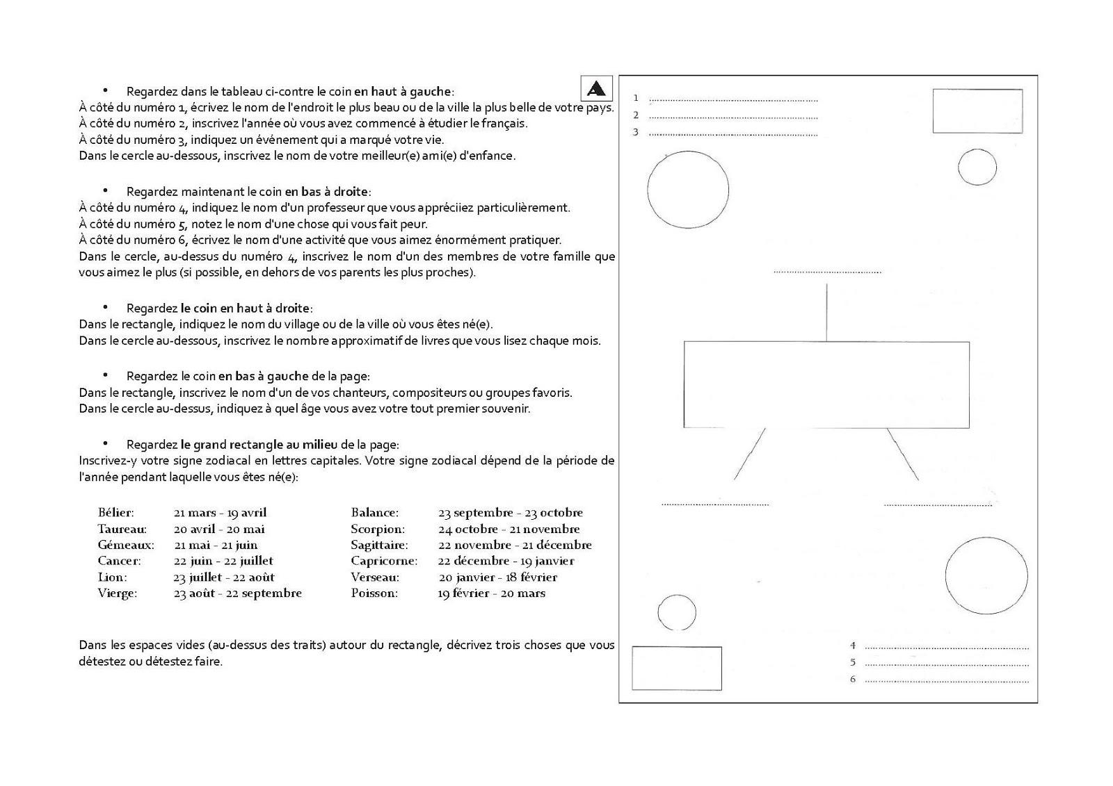 une activit pour stimuler la discussion. Black Bedroom Furniture Sets. Home Design Ideas