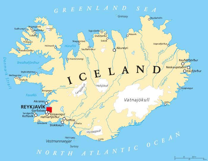 Iceland On A Map Iceland 24   Iceland Travel and Info Guide : Iceland on a Map