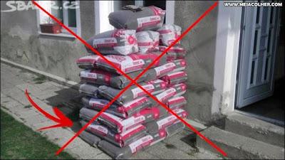 armazenamento do cimento