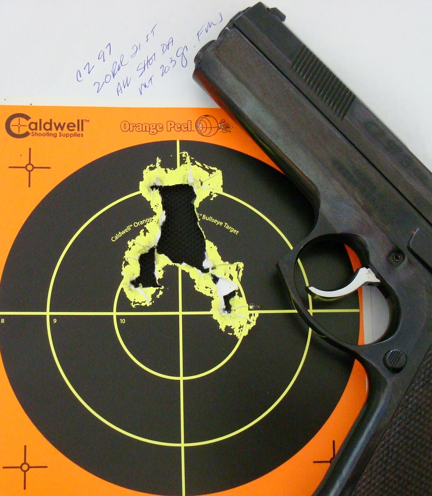Average Joe's Handgun Reviews: CZ 97B  45 ACP