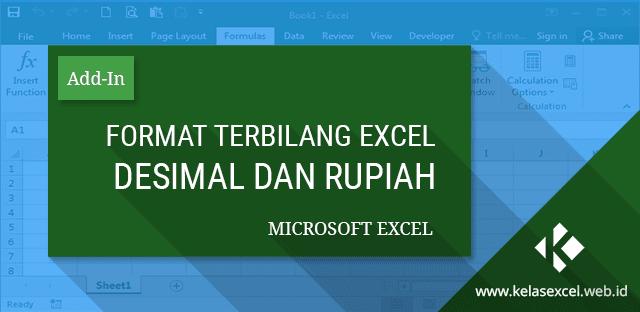 Terbilang Excel Dalam Format Angka Desimal dan Rupiah