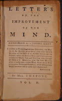 "A page from ""Letters on the Improvement of the Mind."""