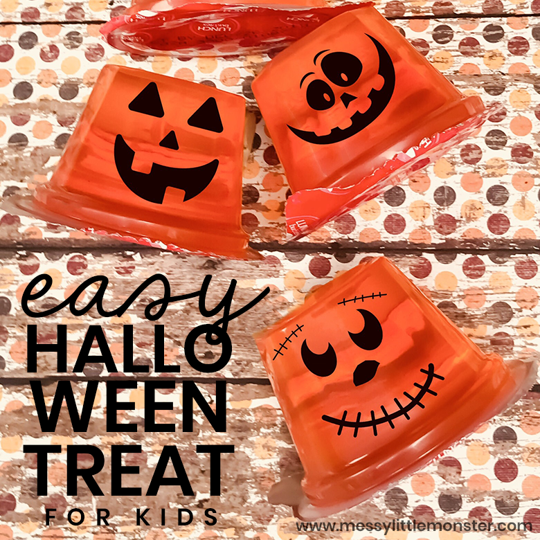 Easy Halloween Snack and Pumpkin Craft for Kids