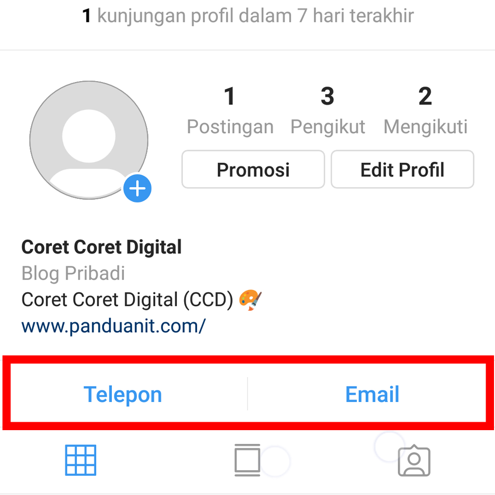 Cara Menambahkan Tombol Telepon Email Alamat Di Instagram Panduanit