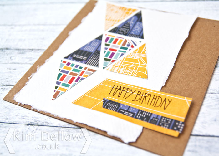 close up of Geometric shapes in card making