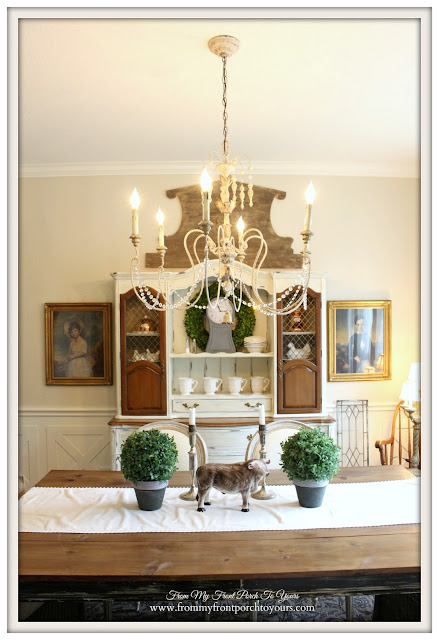 French Country Dining Room-Farmhouse-French Chandelier- From My Front Porch To Yours