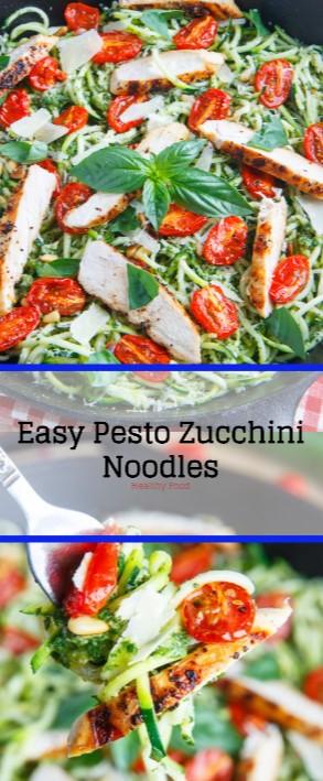 Easy Pesto Zucchini Noodles