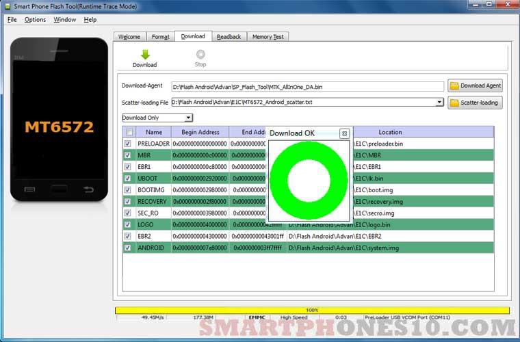 Cara Flashing Advan E1C Via SP-Flashtool PC 100% Work