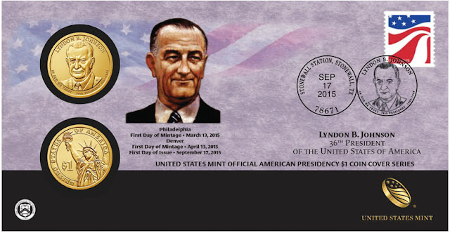President Lyndon B. Johnson 2015 One Dollar Coin Cover