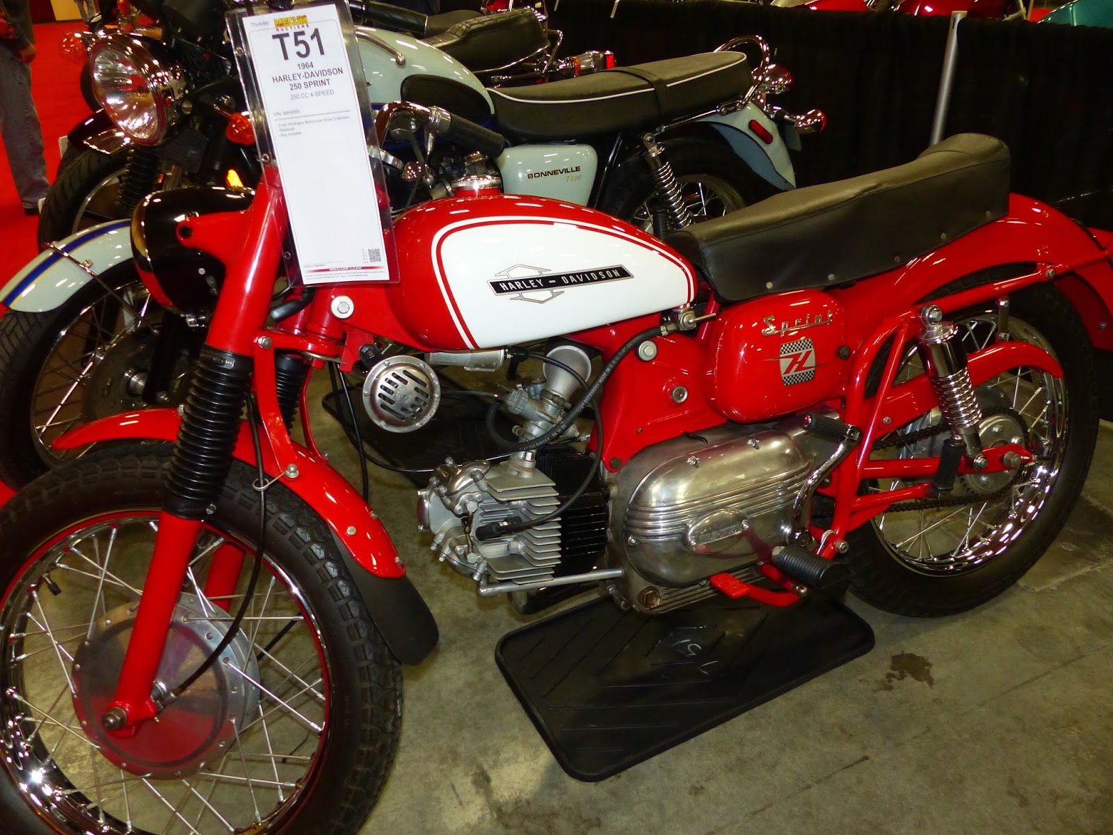 OldMotoDude: 1964 Harley-Davidson/Aermacchi Sprint sold for