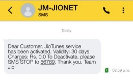 How to activate callertune free on my jio number