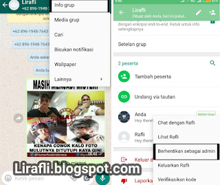Cara Menghapus Admin Grup WhatsApp (memberhentikan admin grup WA)