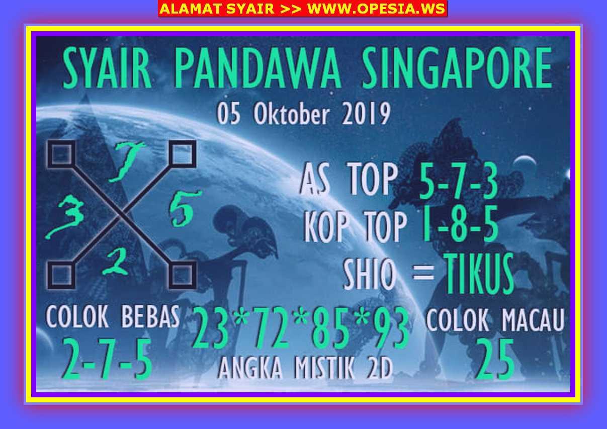 Kode syair Singapore Sabtu 5 Oktober 2019 35