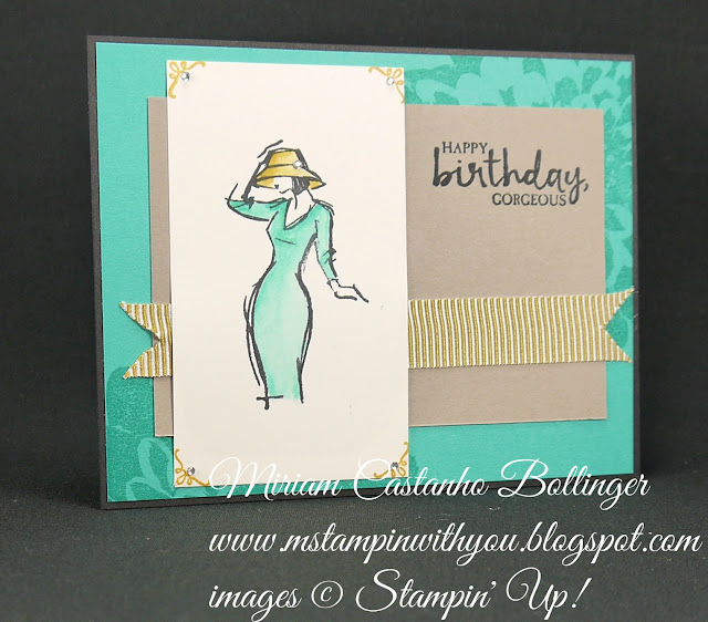 Miriam Castanho-Bollinger, #mstampinwithyou, stampin up, demonstrator, dsc, birthday card, beautiful you, definitely dahlia, sealed with love stamp set, su