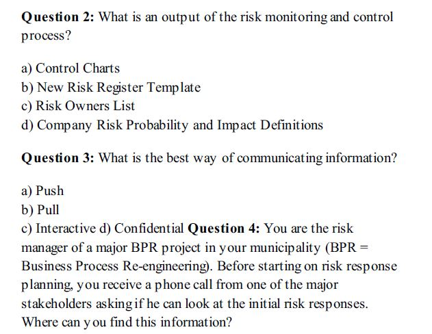 65 Sample PMP Questions and Answers PDF