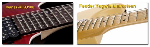 Guitarras con Diapasón Escalopado