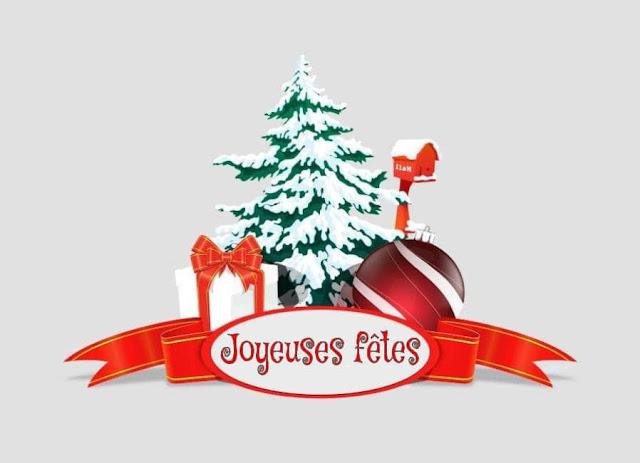 Carte joyeuses fêtes de fin d'année à imprimer