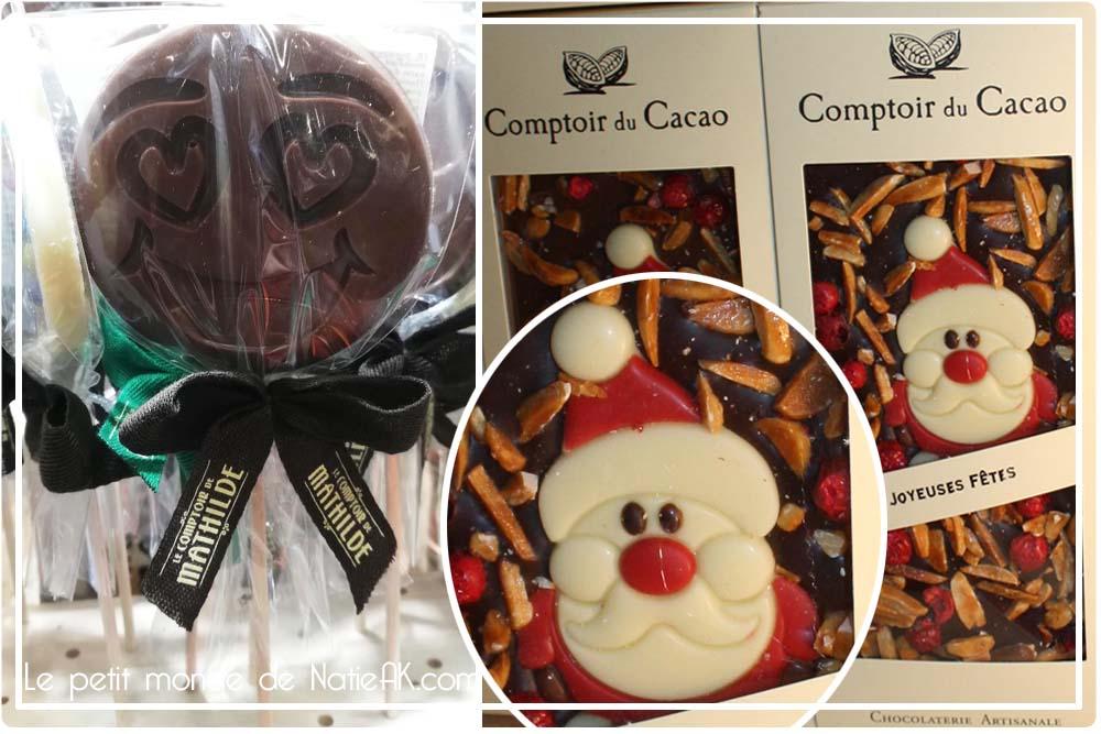 Père Noël en chocolat Le comptoir de Mathilde et le comptoir du cacao