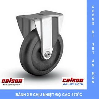 Bánh xe đẩy chịu nhiệt càng bánh xe inox 304 | banhxepu.net