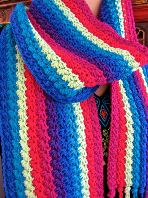 Starpath Scarf: a new downloadable crochet pattern by Vashti Braha