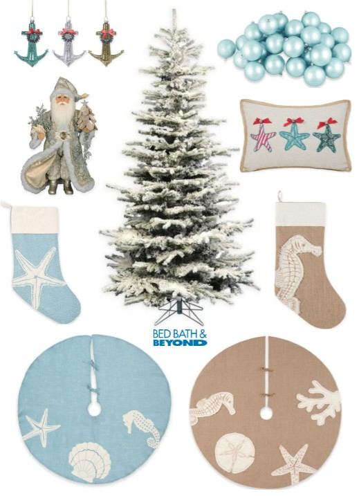 Coastal Christmas Decor and Ornaments