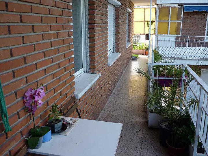 Vistas desde la amplia terraza doble. Se alquila habitación en Parque de Lisboa. Alcorcón (Madrid)