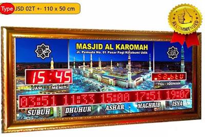 Produsen Jam Jadwal Sholat Digital Masjid Di Medan