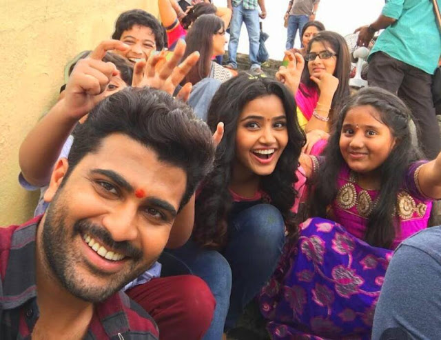 Sathamanam bhavathi Movie Working Stills