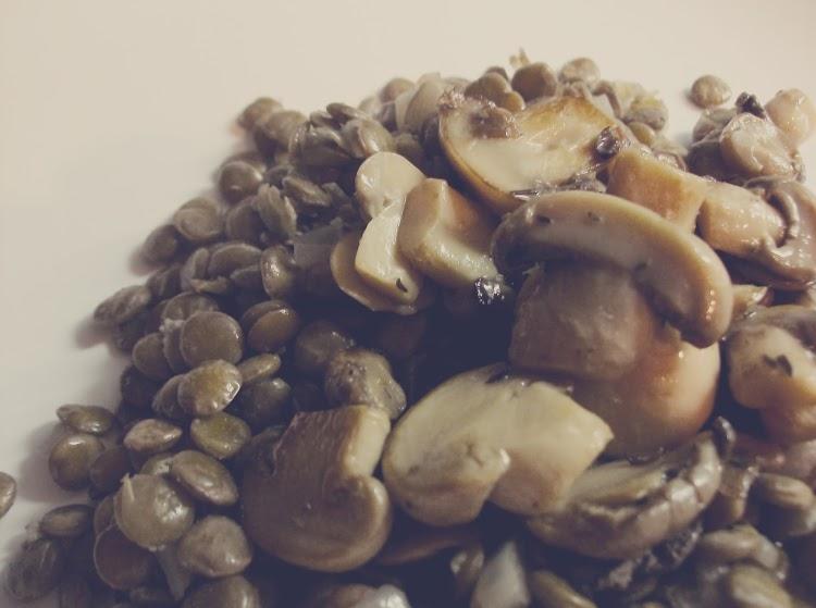 Salada de Lentilhas com Cogumelos