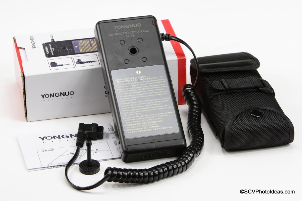 YongNuo SF-18 External Battery Pack box contents