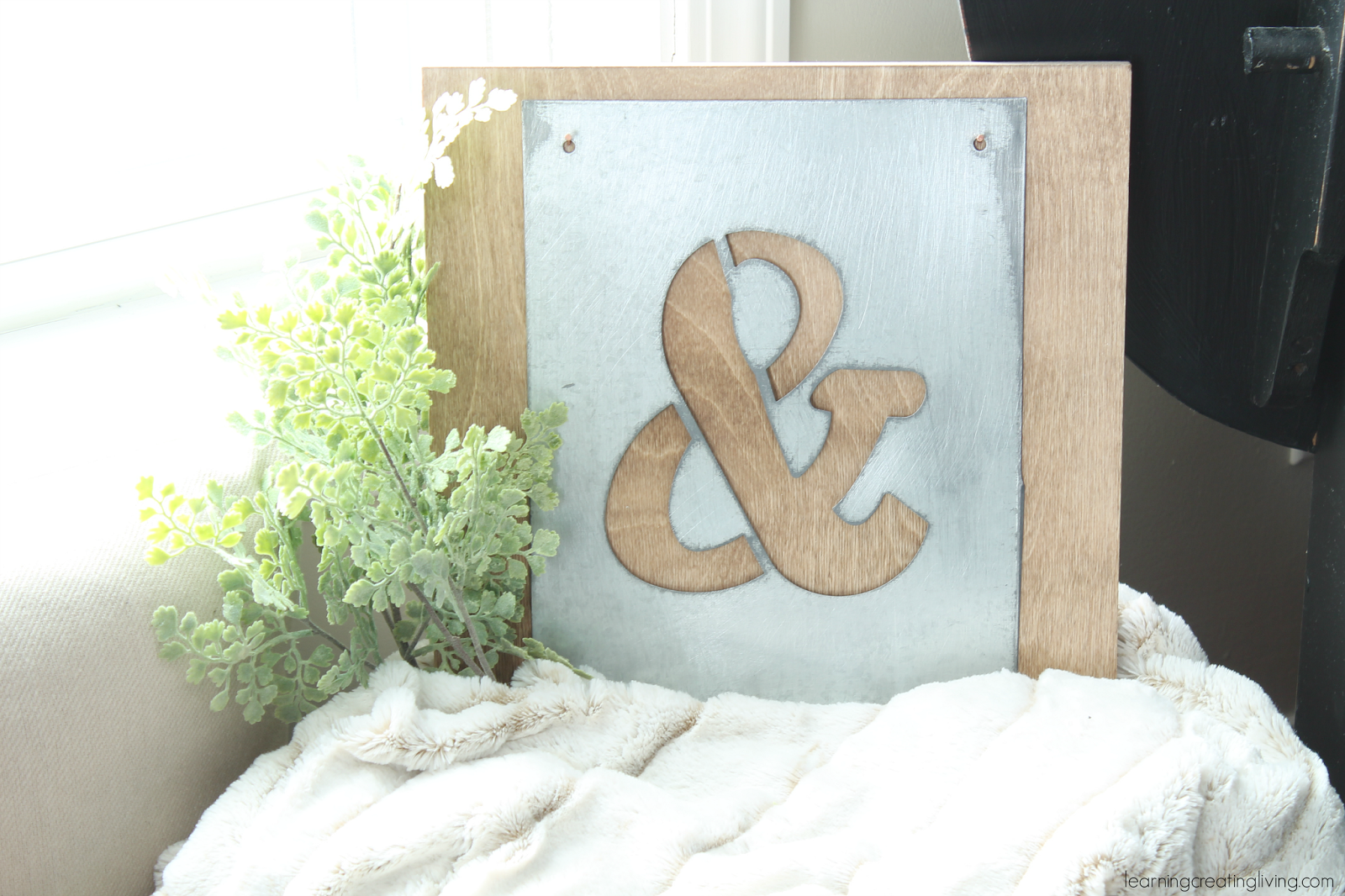 Diy Living: Creating Learning  sign ampersand Ampersand rustic Sign Metal Rustic