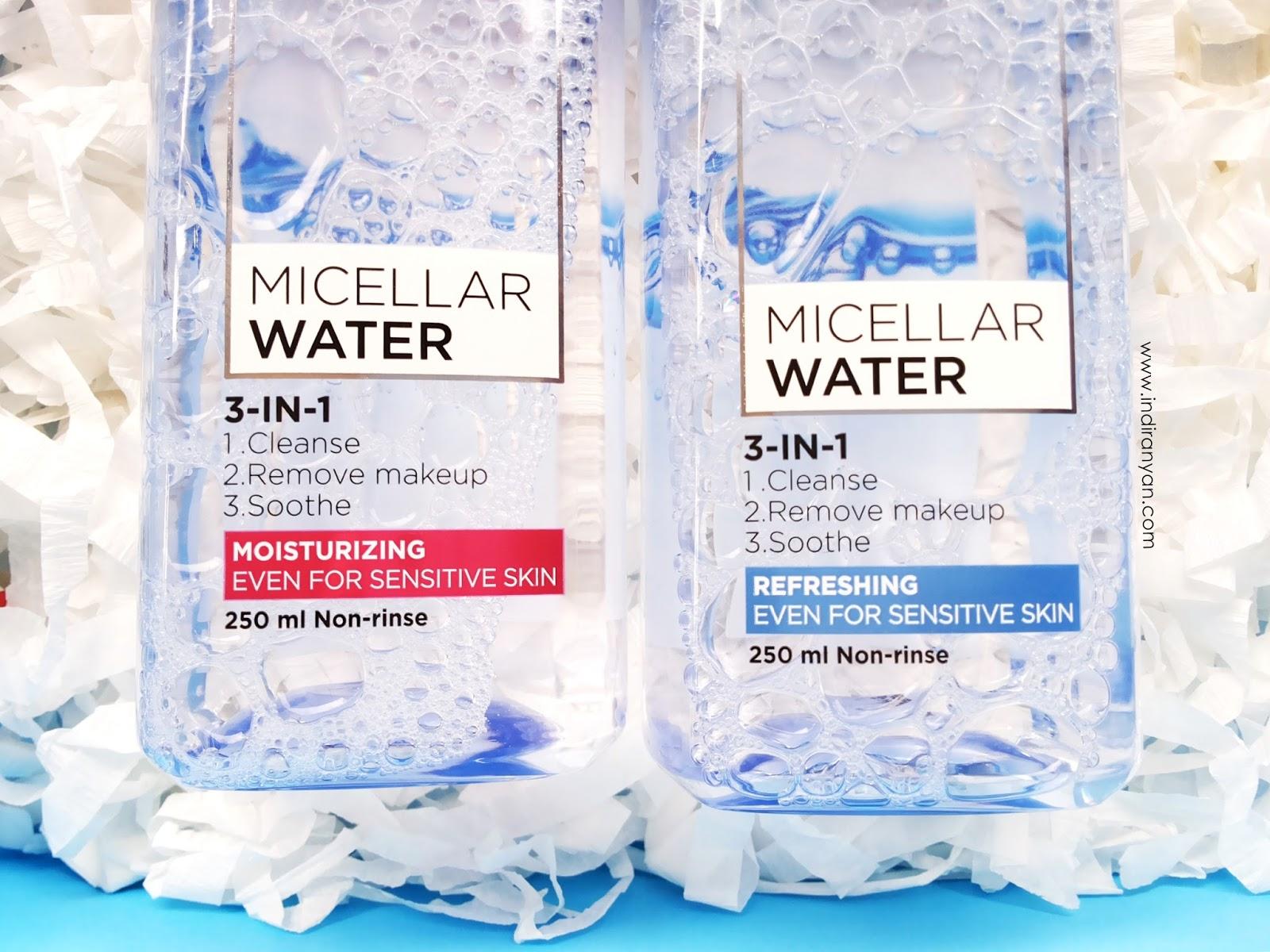 loreal-micellar-water-review, loreal-micellar-water-packaging, loreal-micellar-water-harga,  loreal-micellar-water-variant