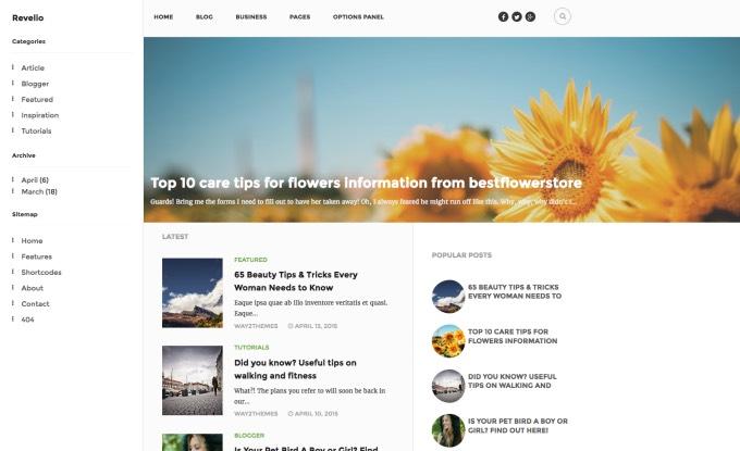 Revelio Arşiv Blogger Teması