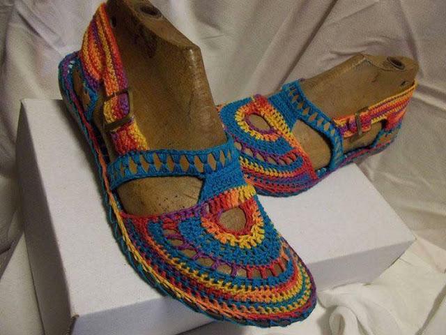 wzory sandalow szydelkowych