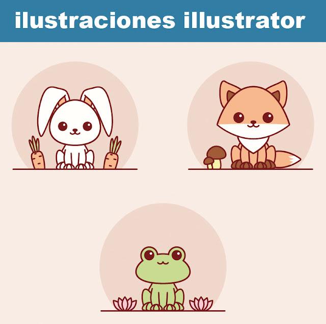 Crear fácilmente animales Kawaii con adobe illustrator