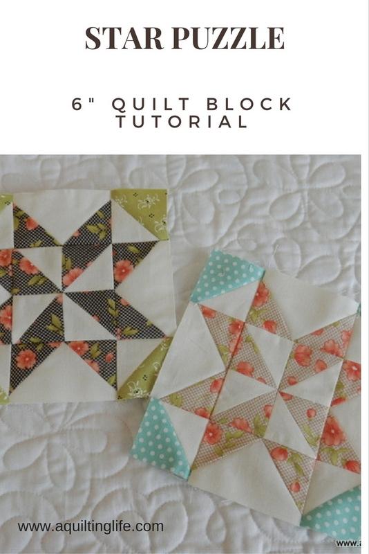 http://www.aquiltinglife.com/2015/07/summer-sampler-quilt-star-puzzle.html