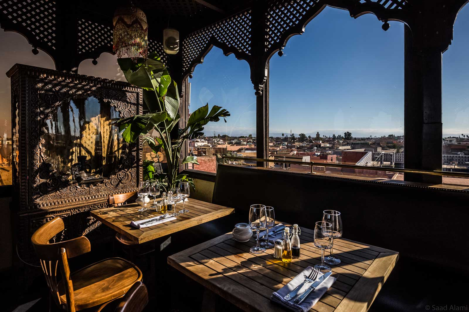 Le Salama, coctails and sunset in Marrakech