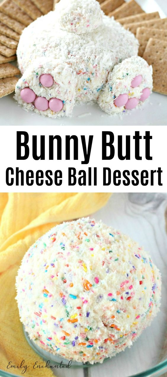 This Bunny Butt Cheese Ball is so scrumptious and quite the cute Easter dessert. This sweet cheese ball is loaded with your favorite goodies like sprinkles, funfetti cake, and cream cheese.