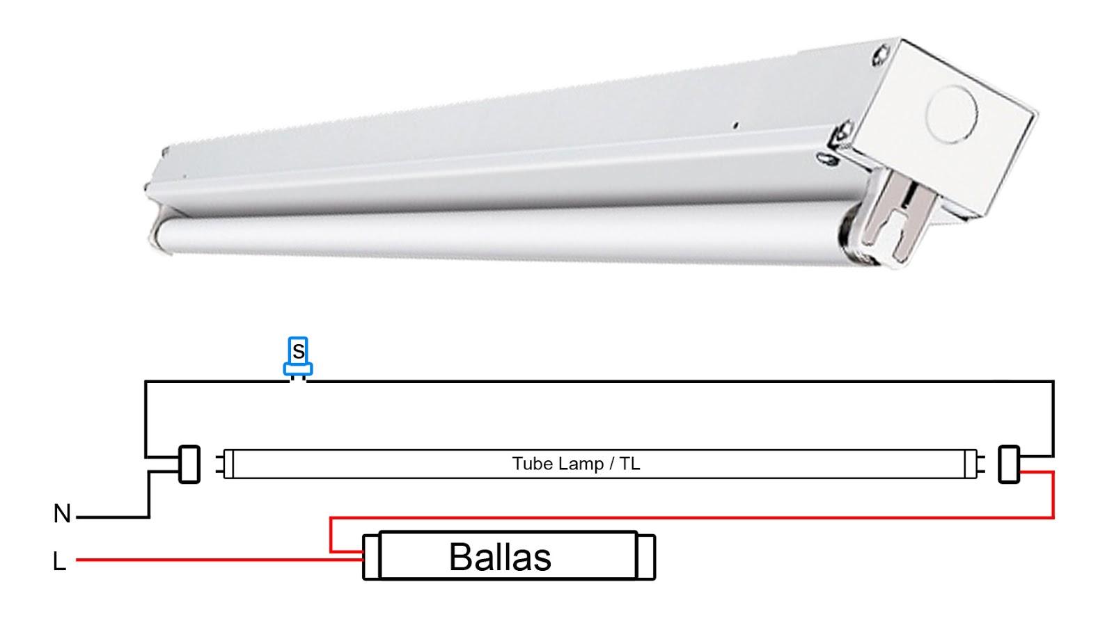 Cara Merakit Lampu Panjang | Tube Lamp Dengan Ballas