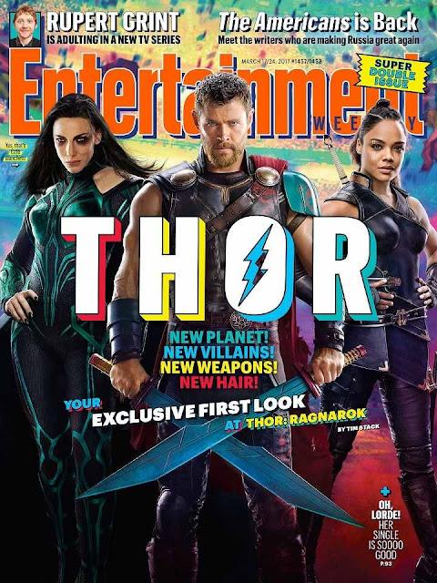 Última portada de EW dedicada a Thor: Ragnarok