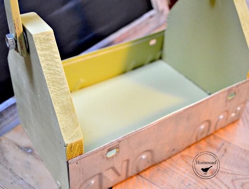 License Plate Garden Tool Box