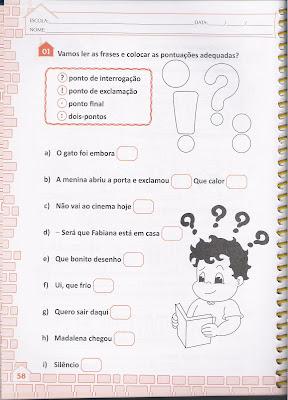 Aprendizagem E Alfabetização Sinalizar Com A Pontuaçâo