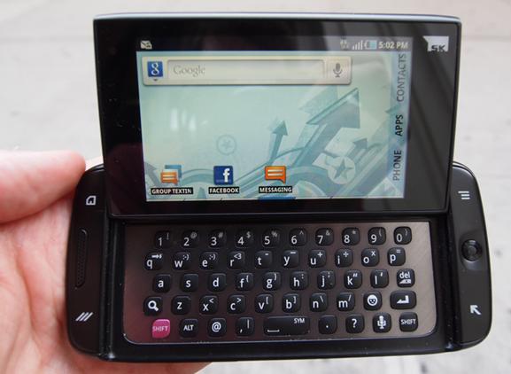 هاتف T-Mobile Sidekick الأندوريد Android أول بنظام التشغيل اندرويد