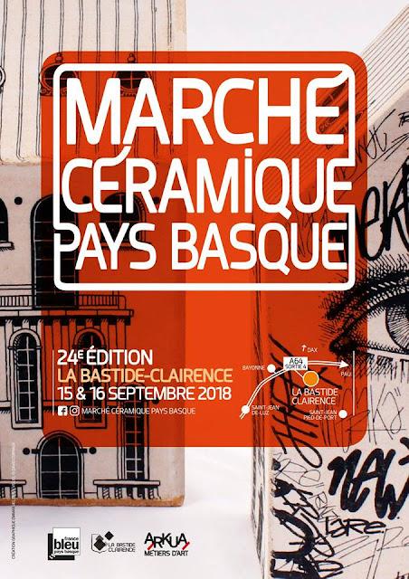 Marché Céramique La-Bastide-Clairence Pays Basque 2018