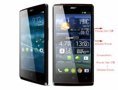 Cara Mudah Screenshot Android Acer Liquid