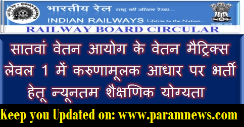 minimum-educational-qualification-for-compassionate-appointment-railway-paramnews
